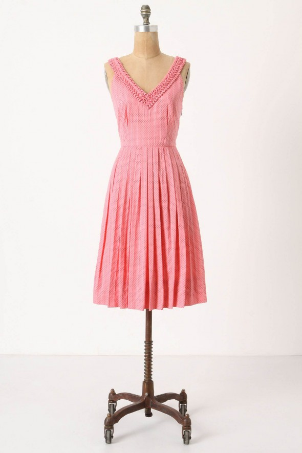 pink-vintage-style-bridesmaid-dress