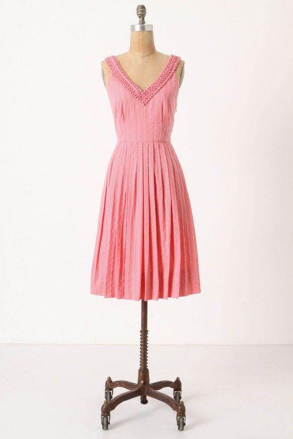 pink-vintage-style-bridesmaid-dress
