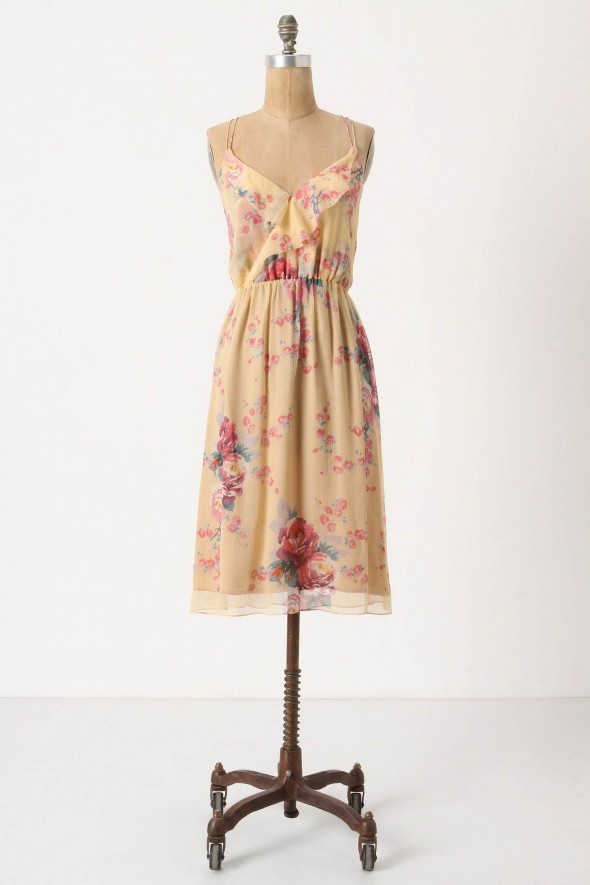 rose-patterned-bridesmiad-dress