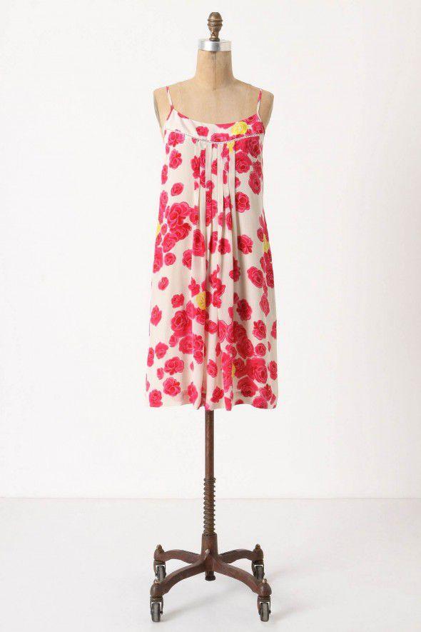 rose-print-bridesmaid-dress