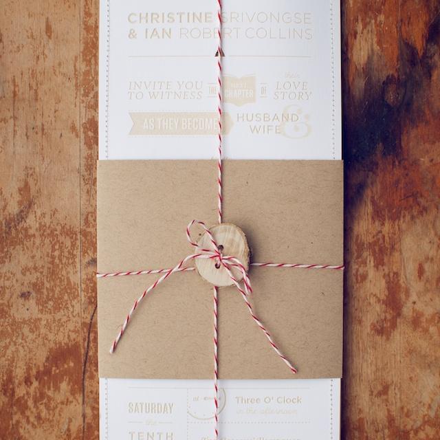 Rustic Wedding Invitation Ideas: Woodsy Rustic Style Wedding Invitation