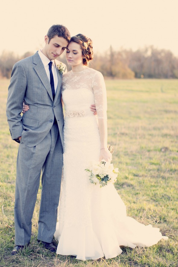 vintage-chic-wedding-couple