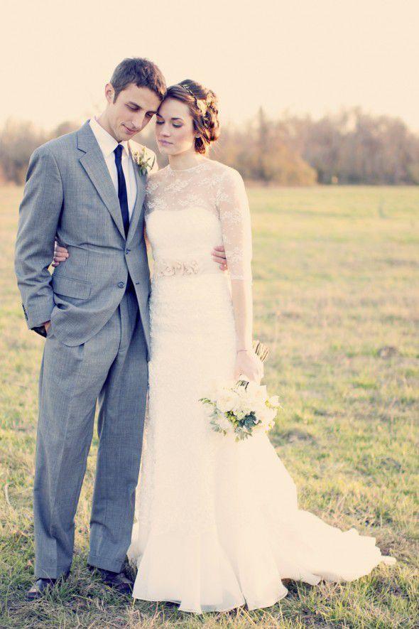 vintage-chic-wedding-couple