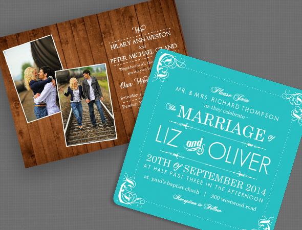 Rustic Western Wedding Invitations: Welcome Sponsor: Wedding Paperie