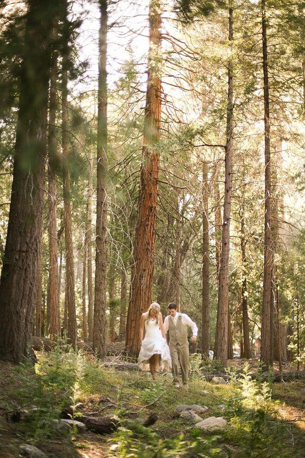 California Rustic Cabin Style Wedding - Rustic Wedding Chic