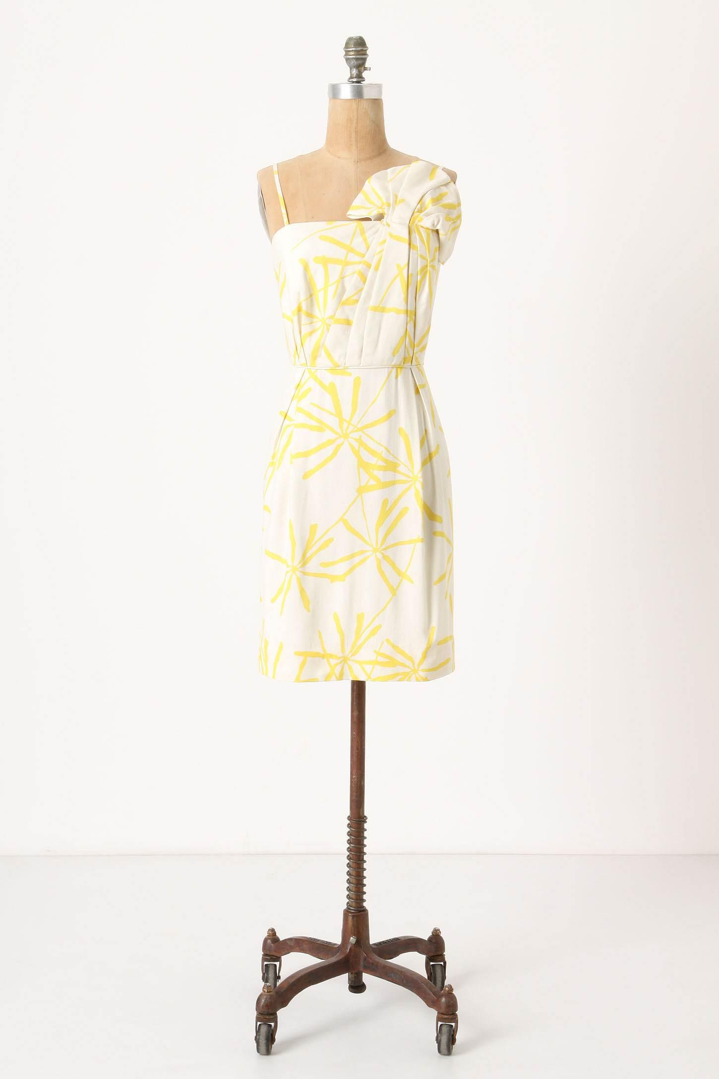 Yellow White Bridesmaid Dresses 8