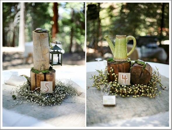 Rustic wedding centerpieces chic