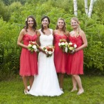 coral-bridesmaid-dress