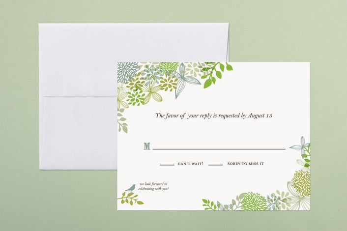 rsvp cards for weddings wording