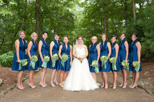Navy Rustic Bridesmaid Dress