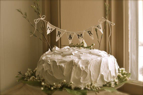 Rustic Wedding Cake Toppers - Rustic Wedding Chic