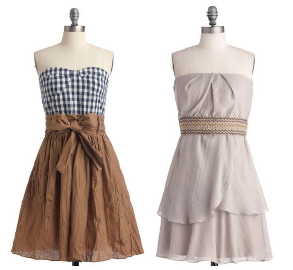 Rustic Wedding Dresses: Vintage Bridesmaid Dresses