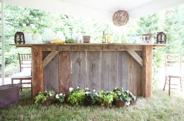 Rustic Backyard Designs : New Hampshire Rustic Backyard Wedding  Rustic Wedding Chic