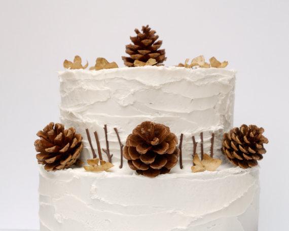 Pine Cone Cake Topper