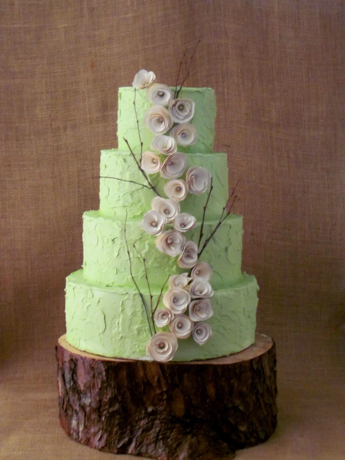 Rustic Buttercream Wedding Cake & Becuo