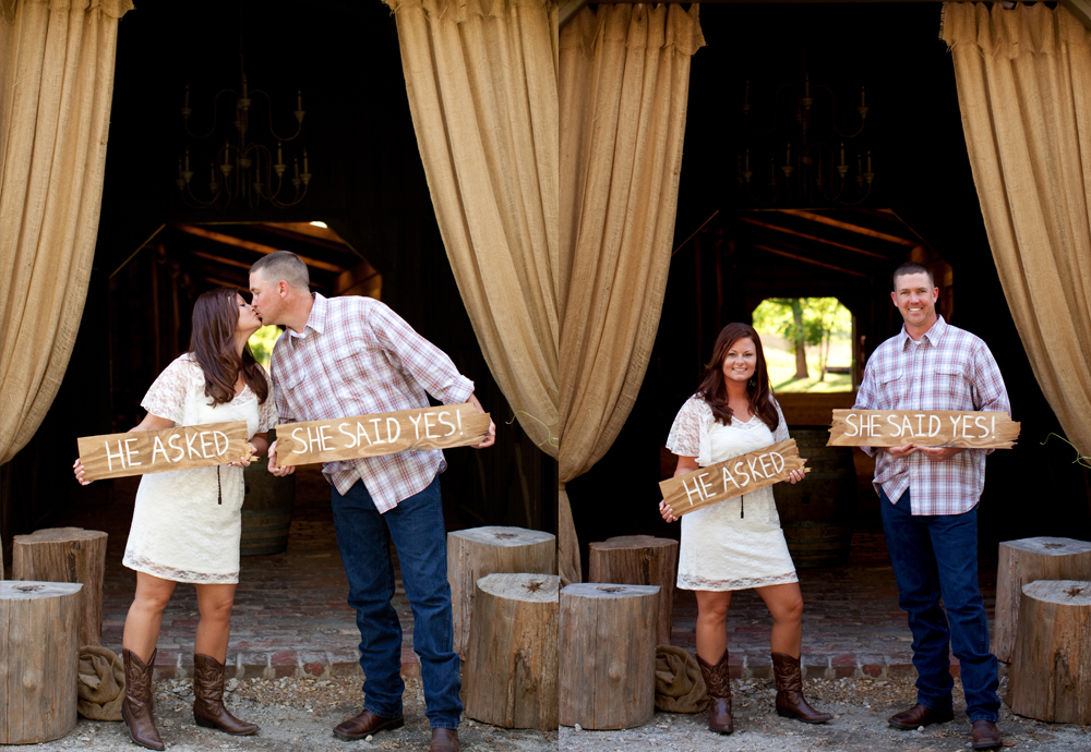 Rustic Style Engagement Picture