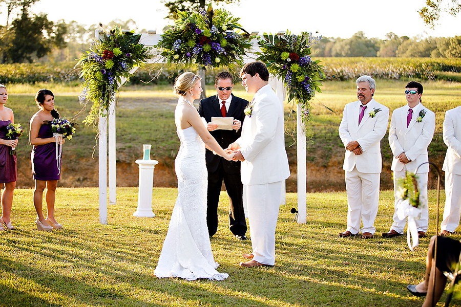 Plantation style wedding