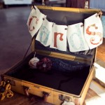 Vintage Suitcase At Wedding