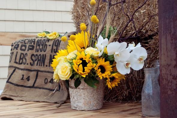 Chic Rustic Country Wedding: Sunflower Theme Wedding