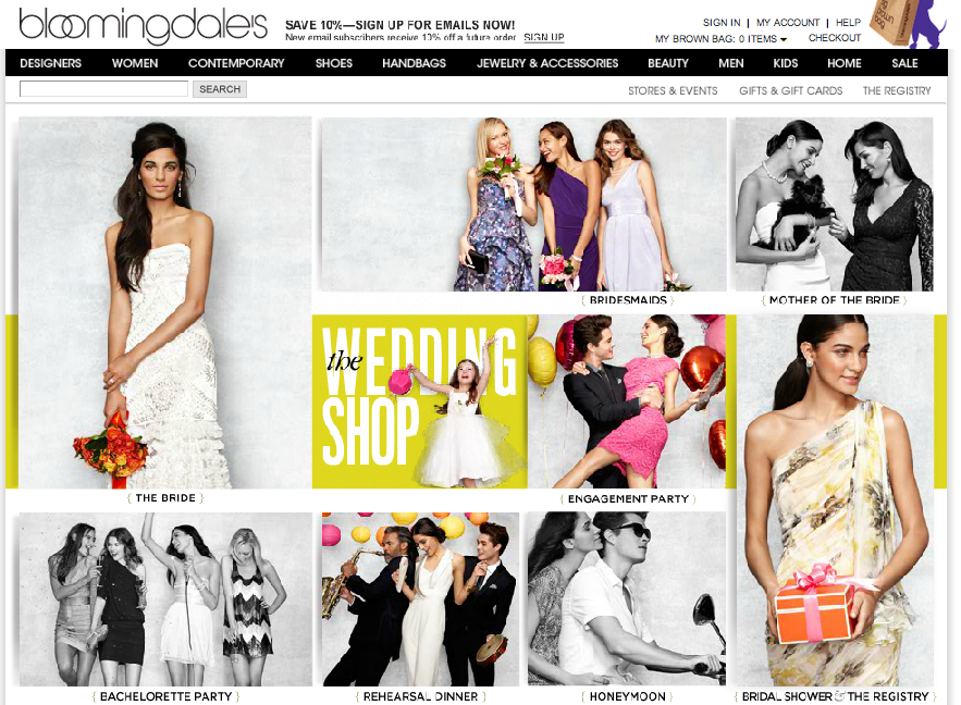 Bloomingdale's Wedding Shop