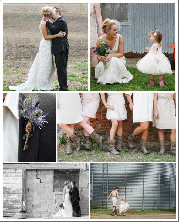 Wisconsin Farm & Barn Country Wedding - Rustic Wedding Chic