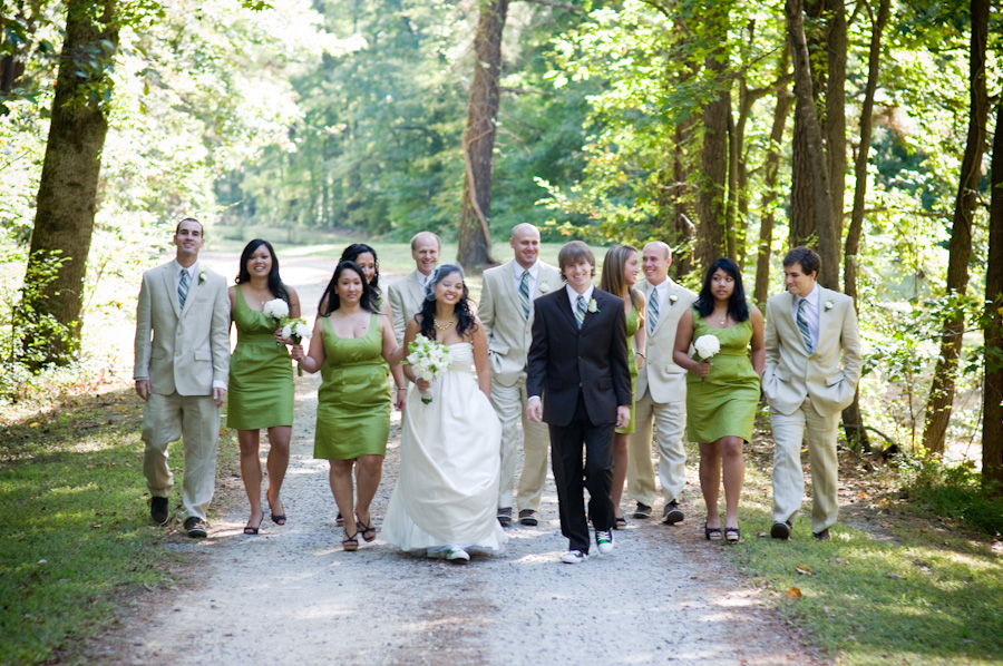 Virginia Backyard Rustic Chic Wedding
