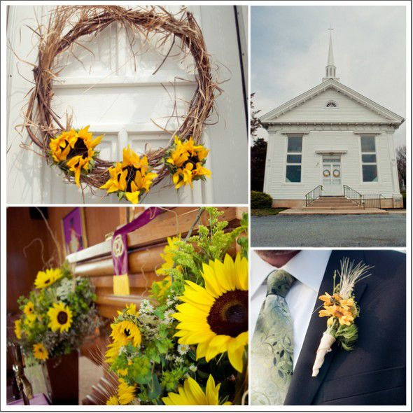 Country Rustic Wedding Altars: Sunflower Theme Wedding