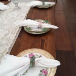 Vintage China At Wedding