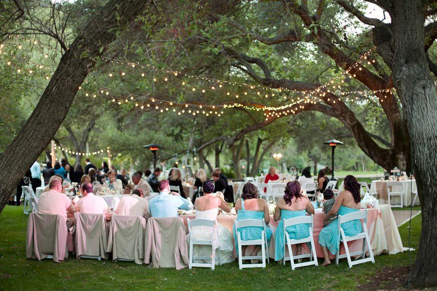 Outdoor Country Wedding Reception
