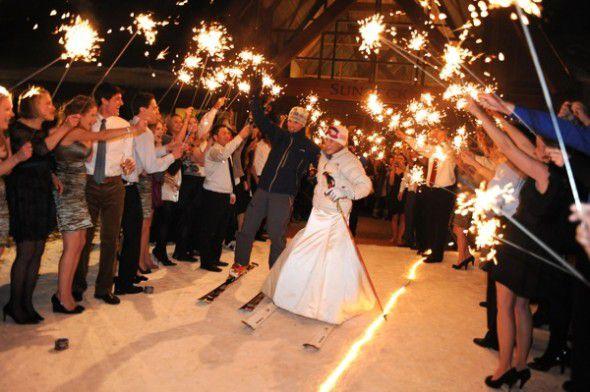 Wedding Sparkler Send Off - Rustic Wedding Chic