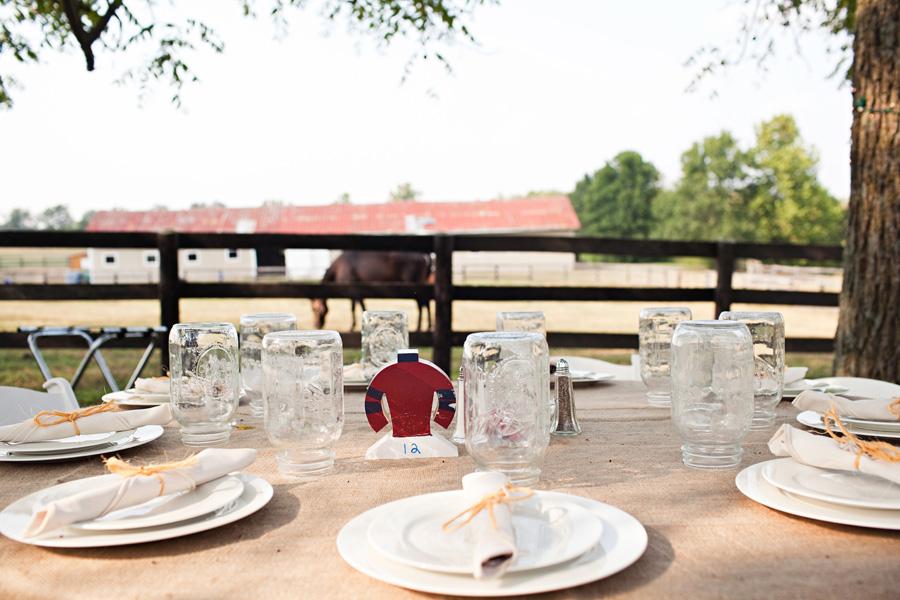 Horse Farm Wedding Reception