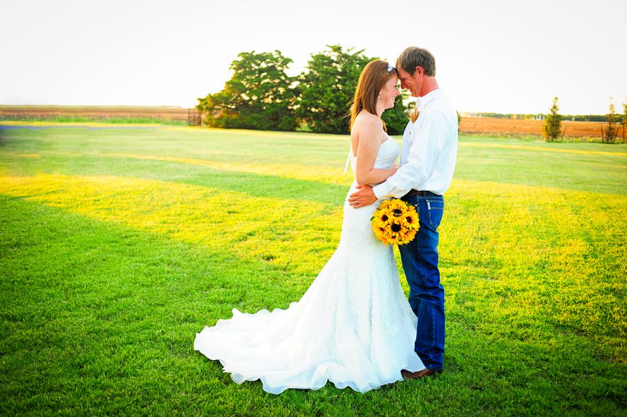 Sunflower Themed Country Wedding Britany Justin Nothing Says