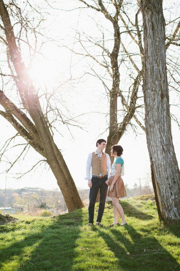 Upstate New York Engagement Pictures Rustic Wedding Chic