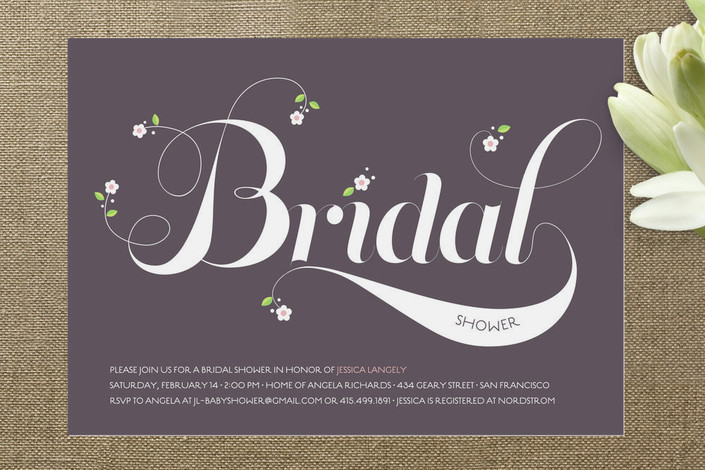 Floral Bridal Shower Invitations  Rustic Wedding Chic
