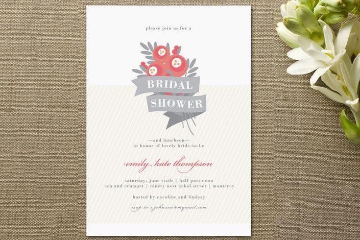 Floral bridal shower invitations rustic wedding chic
