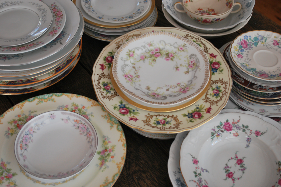 ... china-rental-vintage & Vintage China Used At Weddings - Rustic Wedding Chic