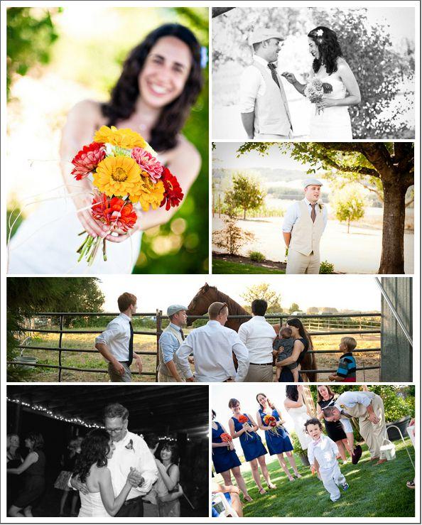 Oregon Backyard Style Wedding - Rustic Wedding Chic