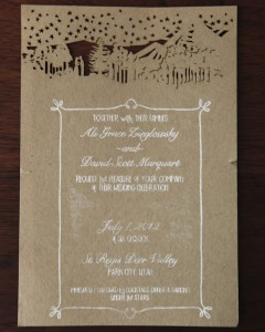 Creating Rustic Invitations with Real Bride, Ali Grace