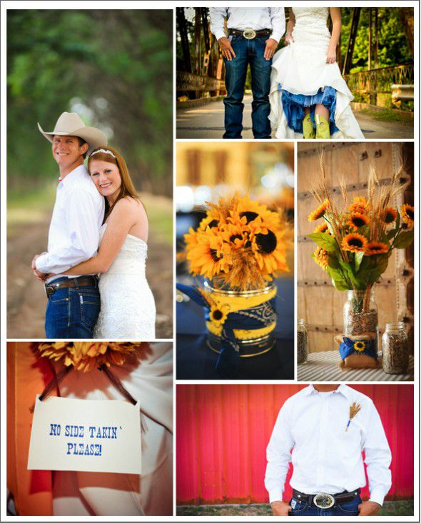 Sunflower Theme Country Wedding