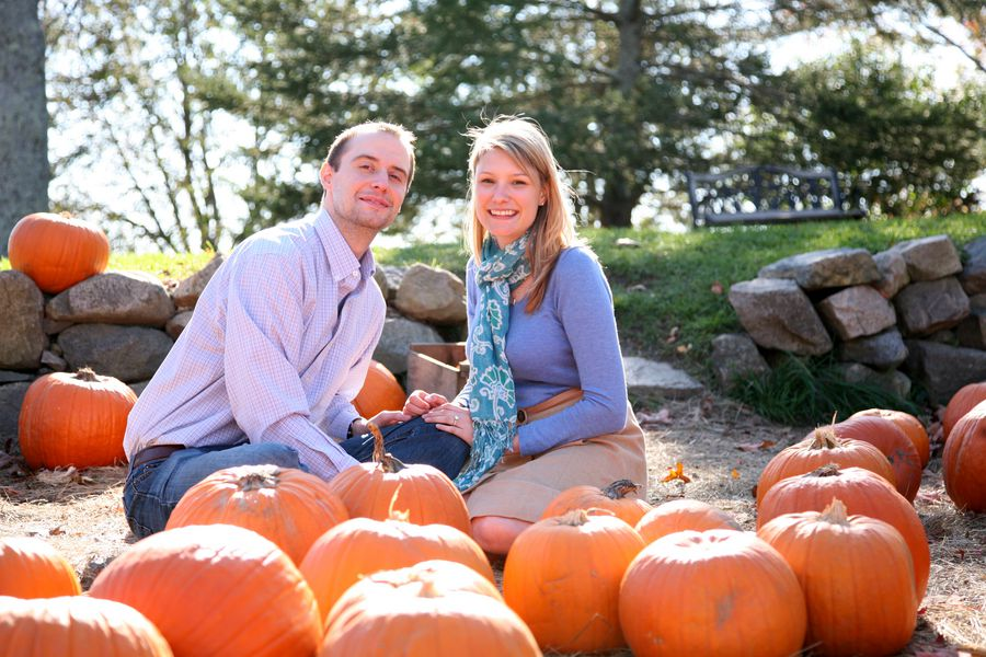 Pumpkin Patch Engagement Session