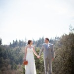 Rustic Wedding Chic Couple At Woodland Wedding