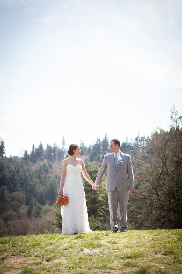 Rustic Wedding Chic Couple At Woodland Wedding