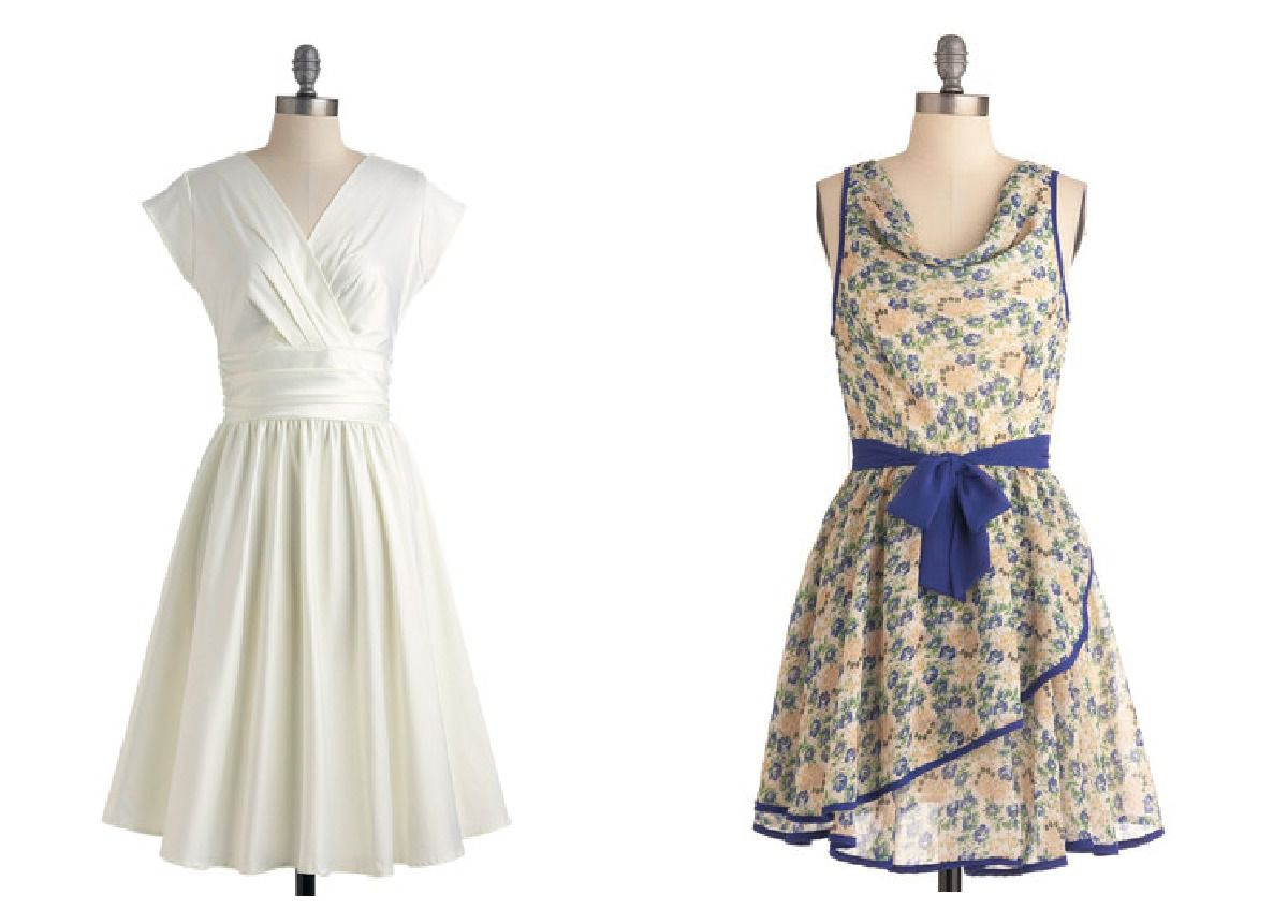 Retro style bridesmaid dresses for a vintage wedding for Bridesmaid dresses for a rustic wedding
