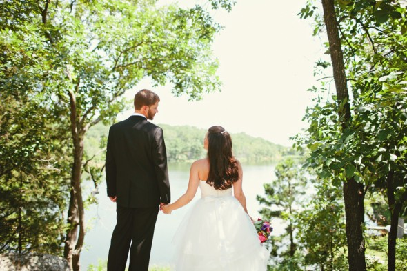 Oklahoma rustic camp wedding at camp loughridge rustic for Wedding dress rental tulsa