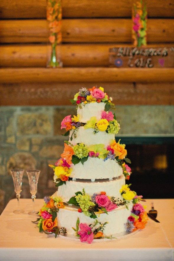 brightly-colored-flower-wedding-cake