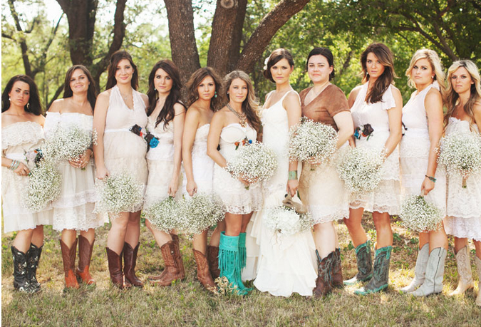 Vintage Wedding Dresses Florida: Perini Ranch Texas Wedding