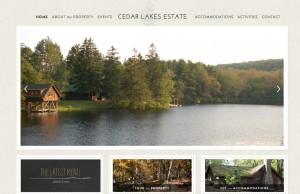 New York Rustic Wedding Venue: Cedar Lakes Estate