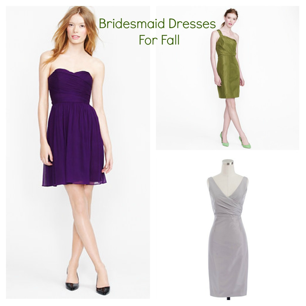 Bridesmaid dresses for a fall wedding rustic wedding chic for Dresses for a fall wedding