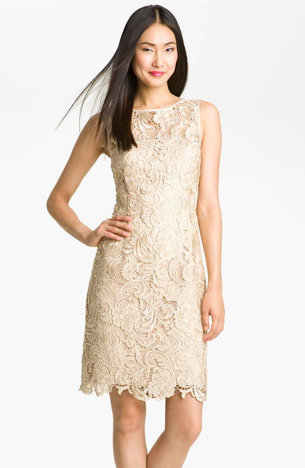 Champagne lace wedding dresses the for Wedding dress champagne lace