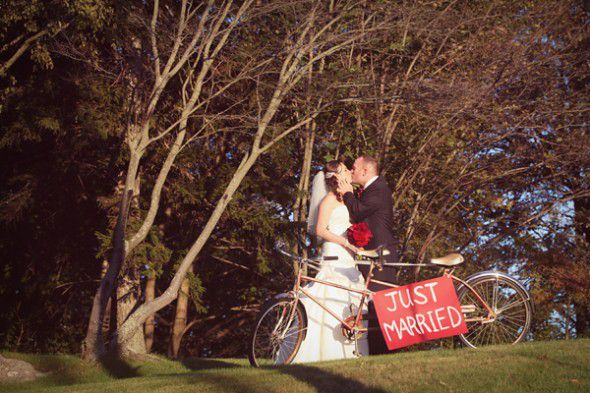 just-married-sign-at-wedding